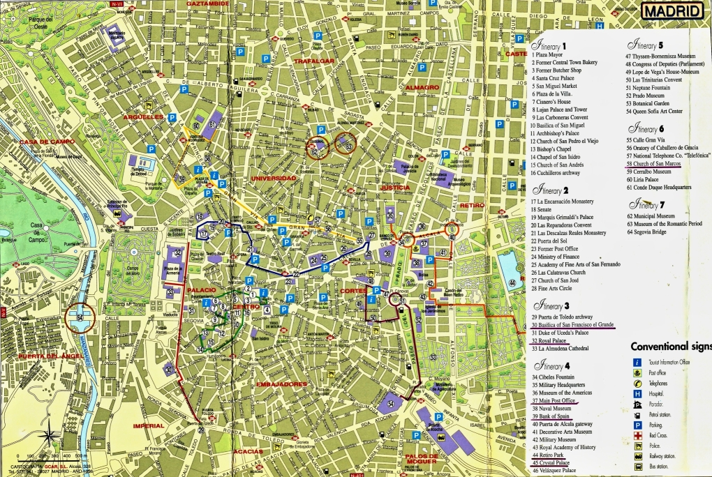 Madrid Stadtplan